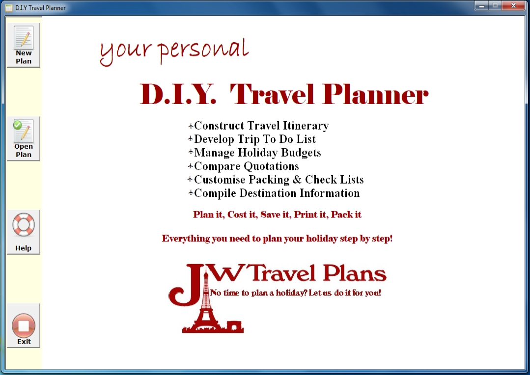 holiday trip planner